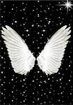Nice big white angels wings in the night