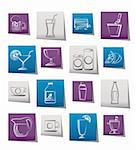 beverages and drink icons - vector  icon set Stock Photo - Royalty-Free, Artist: stoyanh                       , Code: 400-05687956