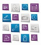reservation and hotel icons - vector icon set Stock Photo - Royalty-Free, Artist: stoyanh                       , Code: 400-05687957