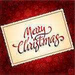 hand lettered Merry Christmas calligraphy; scalable and editable vector illustration (eps8); Stock Photo - Royalty-Free, Artist: letterstock                   , Code: 400-05688077