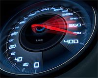Speedometer scoring high speed in a fast motion blur. Stock Photo - Royalty-Freenull, Code: 400-05688955