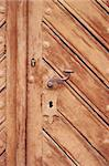 Detail of the closed and locked old door Stock Photo - Royalty-Free, Artist: lamich                        , Code: 400-05689313