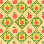 cute colorful apples pattern Stock Photo - Royalty-Free, Artist: LxIsabelle                    , Code: 400-05689362