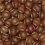 disorderly numerous ripe brown hazelnuts seamless background Stock Photo - Royalty-Free, Artist: 100ker                        , Code: 400-05690223
