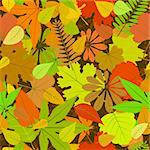 vector autumn yellow leaf seamless background pattern Stock Photo - Royalty-Free, Artist: 100ker                        , Code: 400-05690237