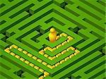 green maze success in vector Stock Photo - Royalty-Free, Artist: Svjatogor                     , Code: 400-05690253