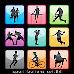 Sport buttons set Stock Photo - Royalty-Free, Artist: kaludov                       , Code: 400-05690483