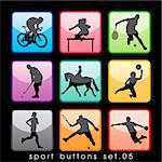 Sport buttons set 02 Stock Photo - Royalty-Free, Artist: kaludov                       , Code: 400-05690484