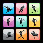 Sport buttons set 03 Stock Photo - Royalty-Free, Artist: kaludov                       , Code: 400-05690487