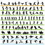 Sport silhouettes set 02 Stock Photo - Royalty-Free, Artist: kaludov                       , Code: 400-05690491
