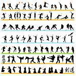 Sport silhouettes set 03 Stock Photo - Royalty-Free, Artist: kaludov                       , Code: 400-05690492