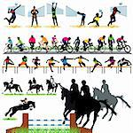 Sport silhouettes set 04 Stock Photo - Royalty-Free, Artist: kaludov                       , Code: 400-05690494