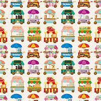 sandwich wrapper - cartoon market store car seamless pattern Stock Photo - Royalty-Freenull, Code: 400-05690545