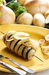 zucchini and potato skewer Stock Photo - Royalty-Free, Artist: phbcz                         , Code: 400-05690685