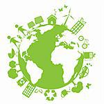 Green and clean environment symbols Stock Photo - Royalty-Free, Artist: soleilc                       , Code: 400-05692091