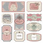 set of retro vintage labels vector illustration Stock Photo - Royalty-Free, Artist: SelenaMay                     , Code: 400-05692128