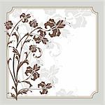 abstract cute lovely floral frame vector illustration Stock Photo - Royalty-Free, Artist: SelenaMay                     , Code: 400-05692130
