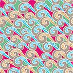 abstract wave seamless pattern background vector illustration Stock Photo - Royalty-Free, Artist: SelenaMay                     , Code: 400-05692179