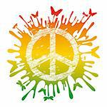 abstract artistic hippie peace symbol vector illustration