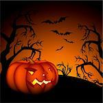 halloween background, this illustration may be useful as designer work Stock Photo - Royalty-Free, Artist: Lady_Aqua                     , Code: 400-05692281