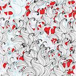 abstract seamless pattern with bright red white and black Stock Photo - Royalty-Free, Artist: tanor                         , Code: 400-05692533