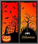 halloween banners Stock Photo - Royalty-Free, Artist: lemony                        , Code: 400-05692673