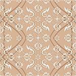 Pastel pink seamless pattern with vintage ornament (vector) Stock Photo - Royalty-Free, Artist: OlgaDrozd                     , Code: 400-05692846