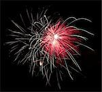 Firework display against black sky Stock Photo - Royalty-Free, Artist: yannp                         , Code: 400-05692960