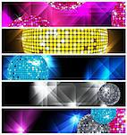 Disco and Nightclub/  set of 5 banners / vector eps10 Stock Photo - Royalty-Free, Artist: TAIGA                         , Code: 400-05693052