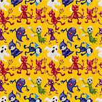 cartoon halloween ghost seamless pattern Stock Photo - Royalty-Free, Artist: notkoo2008                    , Code: 400-05693254