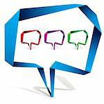 Origami style speech bubble with transparent shadow ready to put over any background. Stock Photo - Royalty-Free, Artist: Sylverarts                    , Code: 400-05693592