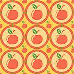 cute apples pattern Stock Photo - Royalty-Free, Artist: LxIsabelle                    , Code: 400-05693980