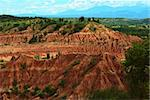 The red slopes of the small Tatacoa Desert in Southern Colombia close to Neiva, which is the second-biggest dry area in Colombia Stock Photo - Royalty-Free, Artist: ildi                          , Code: 400-05694502