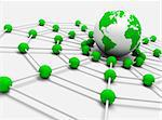 Concept of internet and networking with globe world map Stock Photo - Royalty-Free, Artist: carloscastilla                , Code: 400-05694660