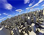 3d city with skyscraper,modern buildings and blue sky Stock Photo - Royalty-Free, Artist: carloscastilla                , Code: 400-05694674