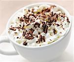 Hot cocoa with shaved chocolate and whipped cream Stock Photo - Royalty-Free, Artist: Elenathewise                  , Code: 400-05695730