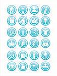 set of 21 blue web signs Stock Photo - Royalty-Free, Artist: LxIsabelle                    , Code: 400-05695936