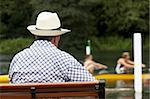 Spectator At Henley Regatta Stock Photo - Royalty-Free, Artist: MonkeyBusinessImages          , Code: 400-05696865