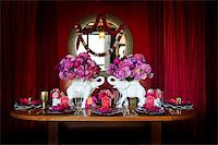 Image of a beautiful table setting for an Indian weding Stock Photo - Royalty-Freenull, Code: 400-05697296