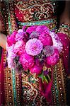 Image of an Indian brides hands holding bouquet Stock Photo - Royalty-Free, Artist: gregory21, Code: 400-05697301