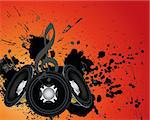 Musical grunge background. Vector illustration. Stock Photo - Royalty-Free, Artist: angelp                        , Code: 400-05698050