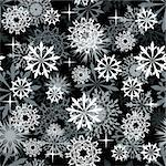 Seamless snowflakes background for winter and christmas theme.  For easy making seamless pattern just drag all group into swatches bar, and use it for filling any contours. Stock Photo - Royalty-Free, Artist: angelp                        , Code: 400-05698055