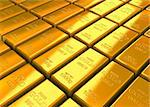 A lot of Gold Bars on the floor. Stock Photo - Royalty-Free, Artist: tashatuvango                  , Code: 400-05699341