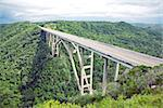Tall bridge over a green valley in Cuba Stock Photo - Royalty-Free, Artist: vicnt                         , Code: 400-05699399