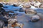 a beautiful mountain river among large stones Stock Photo - Royalty-Free, Artist: porojnicu                     , Code: 400-05700703