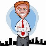 Cartoon Businessman folding arms across his chest Stock Photo - Royalty-Free, Artist: franceschi                    , Code: 400-05701015