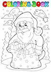 Coloring book Santa Claus theme 3 - vector illustration. Stock Photo - Royalty-Free, Artist: clairev                       , Code: 400-05701449