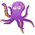Vector - Purple Octopus Isolated on white Stock Photo - Royalty-Free, Artist: gubh83                        , Code: 400-05701573