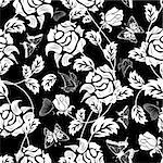 Seamless vector floral pattern. For easy making seamless pattern just drag all group into swatches bar, and use it for filling any contours. Stock Photo - Royalty-Free, Artist: angelp                        , Code: 400-05701676