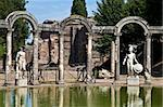 Villa Adriana in Tivoli - Italy. Example of classic beauty in a roman villa. Stock Photo - Royalty-Free, Artist: Perseomedusa                  , Code: 400-05701891